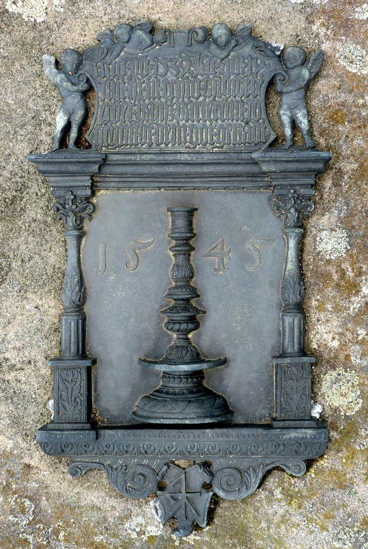 Epitaph des Hanß Parterum Ansicht von oben