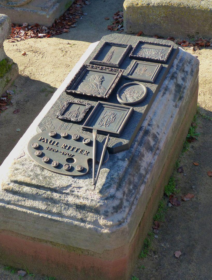 Paul Ritter Grabstätte Grabstätte mit neuem Epitaph