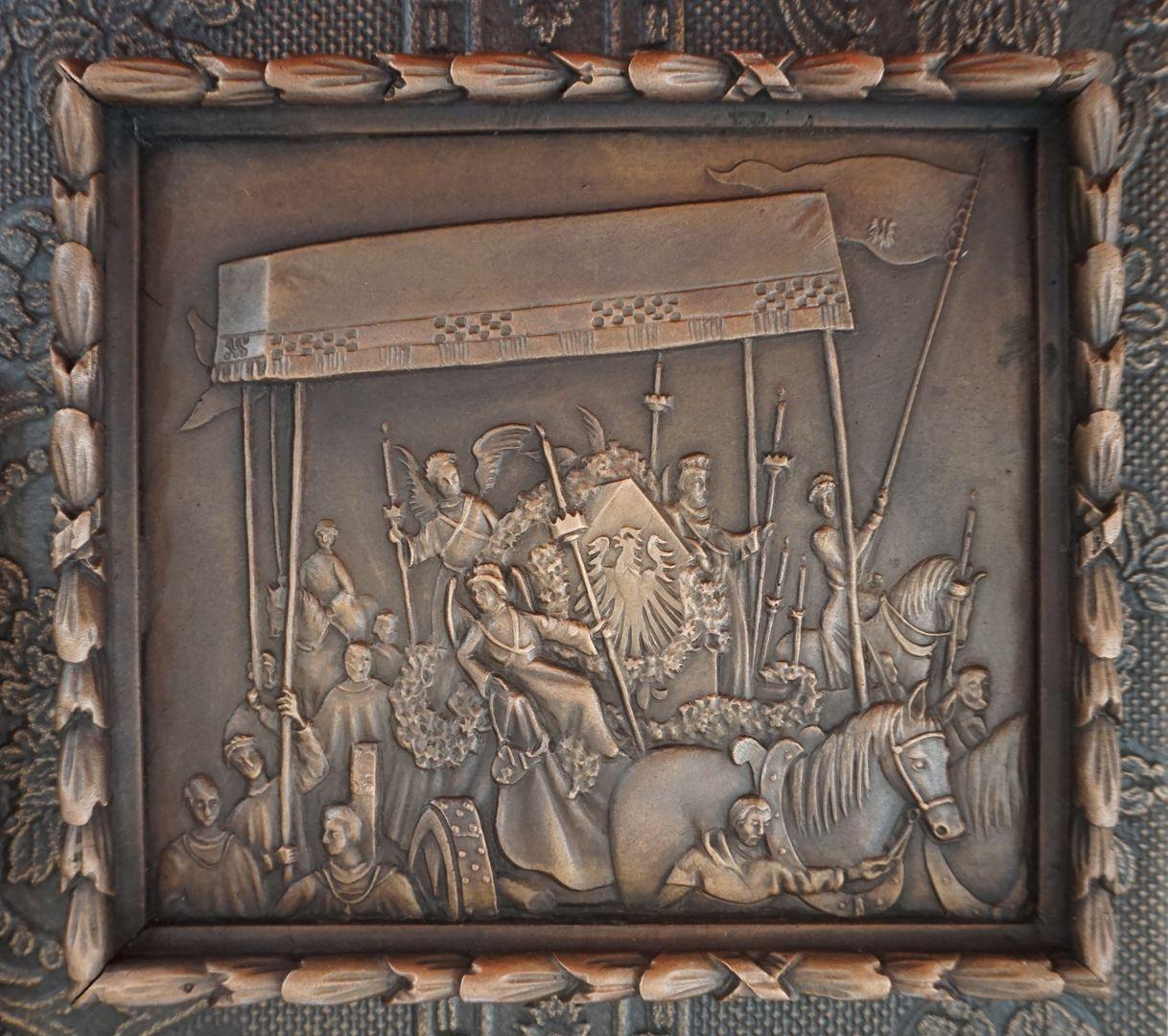 """Paul Ritter Grabstätte Detailabbildung aus Paul Ritters Gemälde """"Die Einbringung der Reichskleinodien"""""""