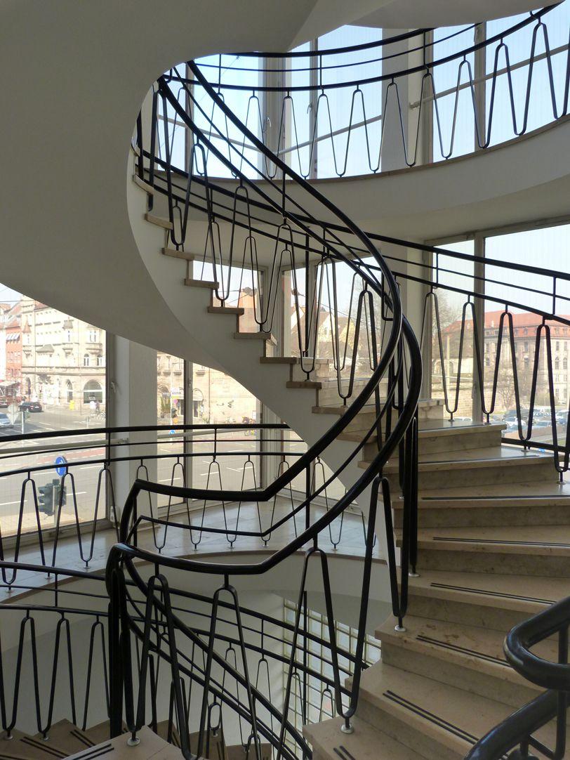 Administration building on Königstorgraben Stairwell
