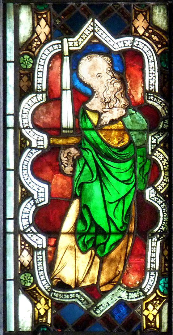 Kaiserfenster Darstellung des Hl. Paulus im sog. Kaiserfenster