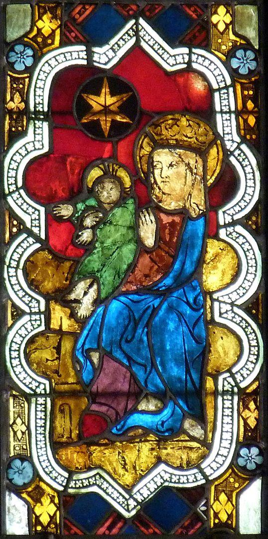 Kaiserfenster Darstellung der Maria mit dem Kinde im sog. Kaiserfenster