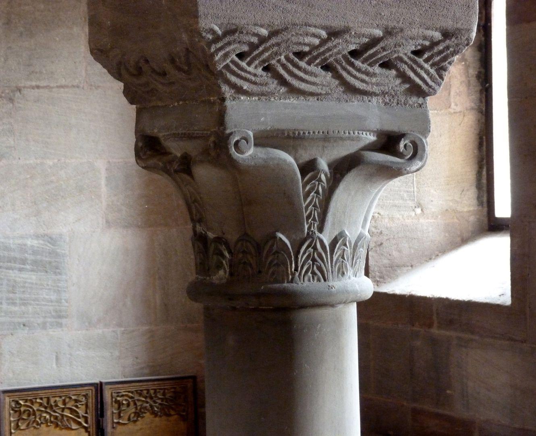 Kapelle der Kaiserburg Obere Burgkapelle, Kapitell des Südöstlichen Pfeilers