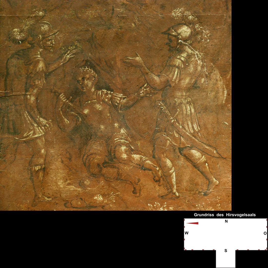 Cäsarenzyklus Vitenszene: Nero richtet den Dolch gegen sich