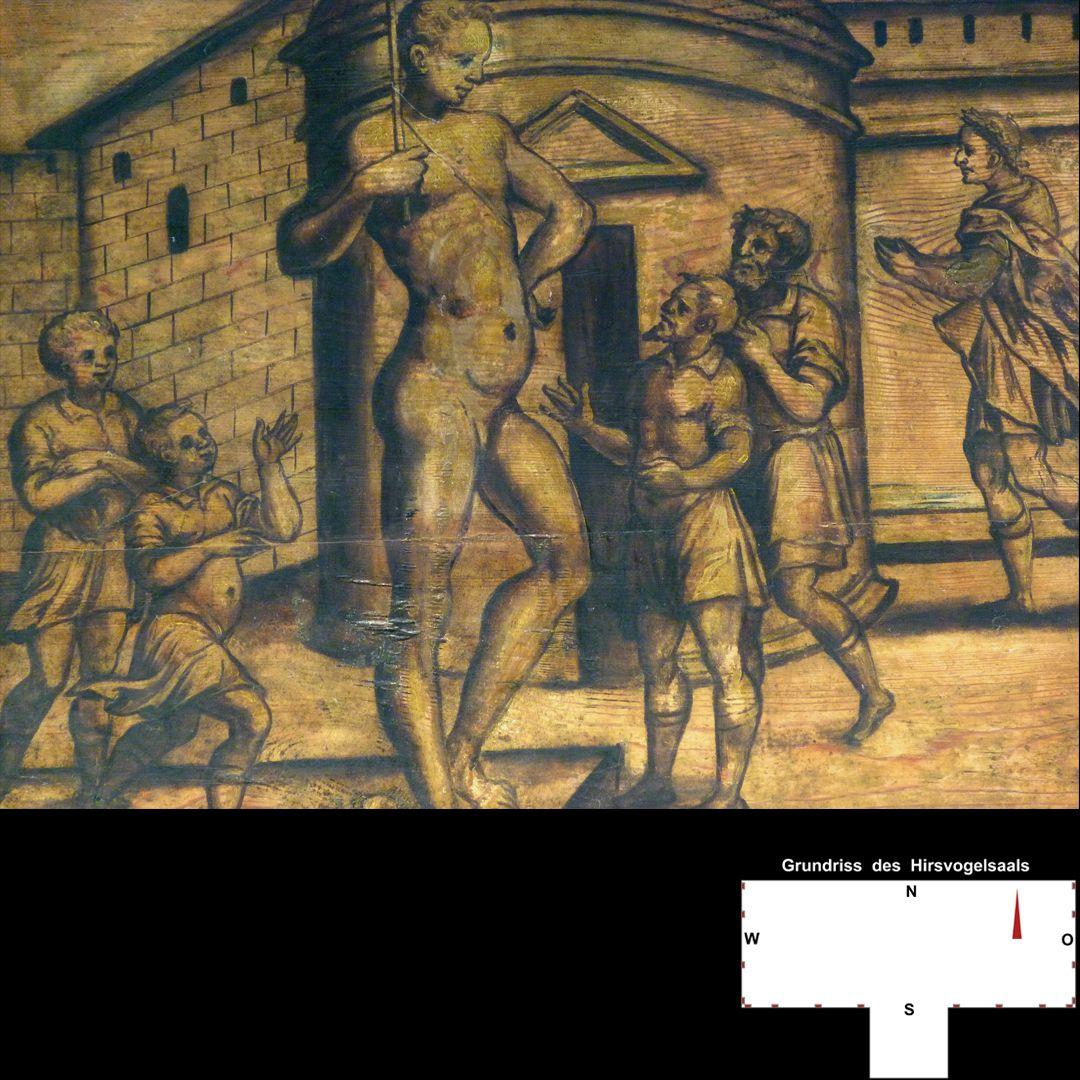 Cäsarenzyklus Vitenszene zu Vespasian: Detail