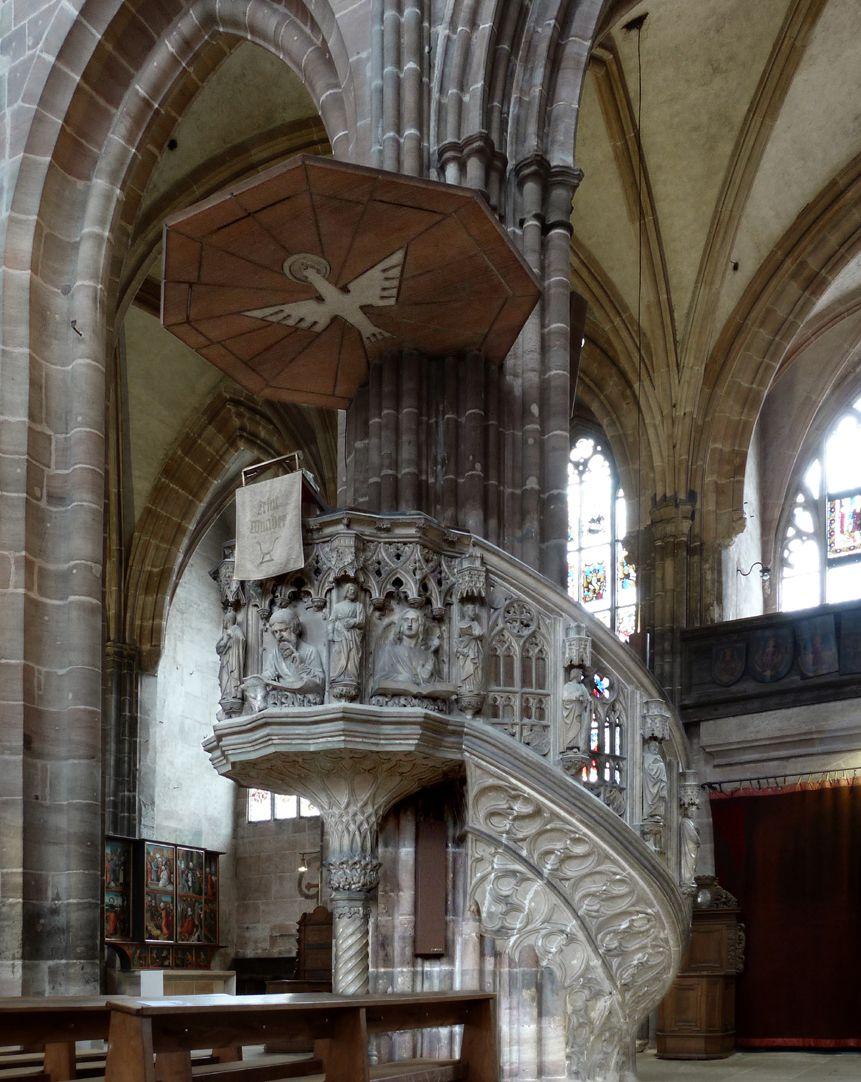 Pulpit General view, pulpit ceiling 1950s