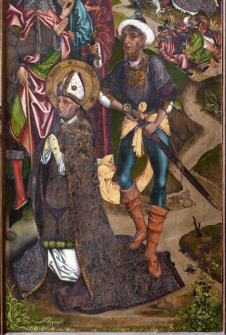 Katharinenretabel des Levinus Memminger rechter Flügel, außen: Enthauptung des heiligen Levinus