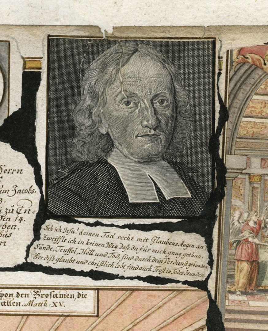 Quodlibet auf den Tod des Weinhändlers Graff Portrait des Weinhändlers vom eigenem Sohn Salomon Graf (gest. 1737) gezeichnet. Der Kupferstich wurde von J. W. Stör ausgeführt (siehe Wolfenbütteler Porträtindex). Für diesen wichtigen Hinweis danke ich Ursula Timann.