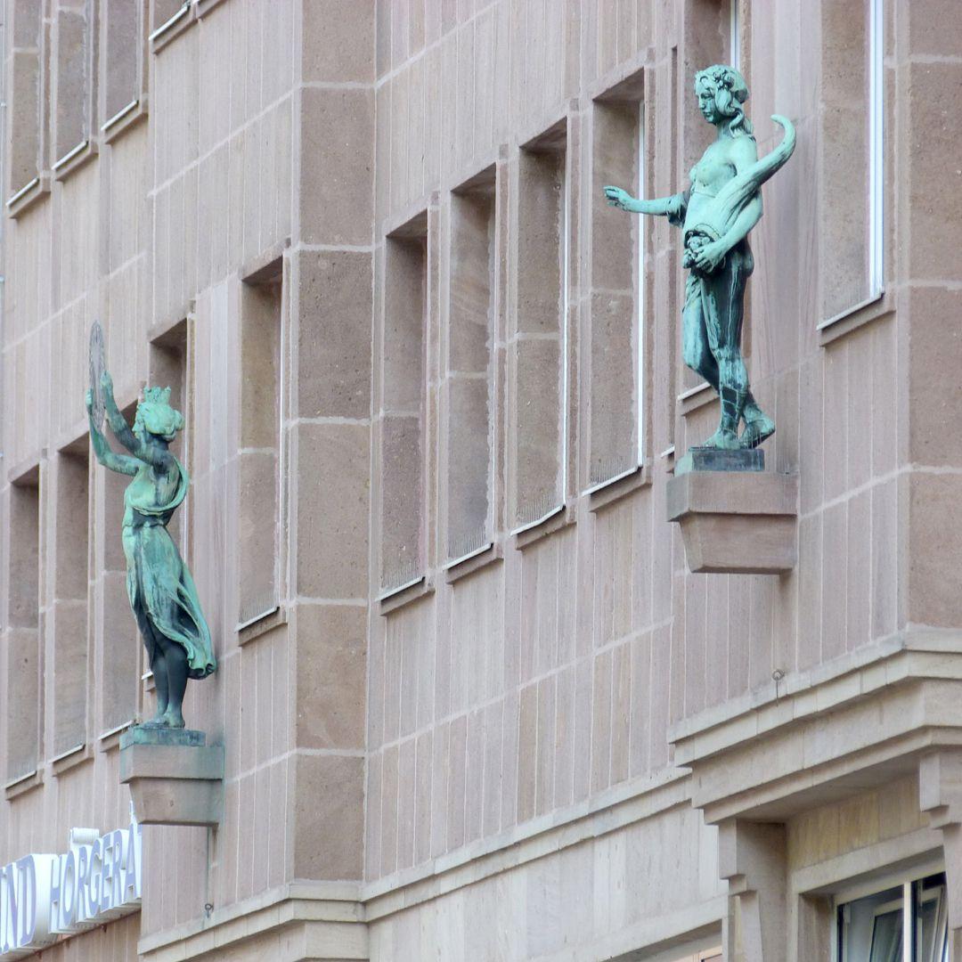 Figures on the Façade of a Building: Noris and Fortuna Noris and Fortuna