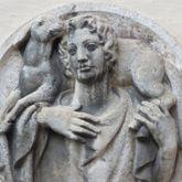 Tondo with the Godd Shepherd (Moskoforos)