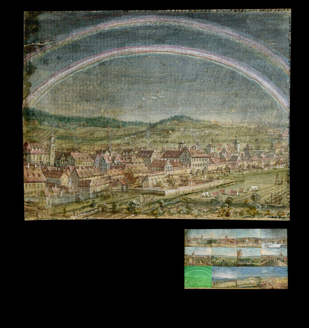 Zwölf Ansichten von Nürnberg und andernorts Altdorf von Südwesten