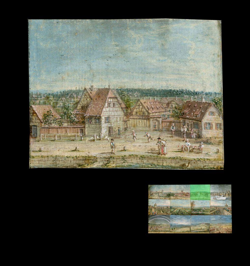 Zwölf Ansichten von Nürnberg und andernorts Frauentorgraben (Bereich zwischen Tafelhofstraße und Celtistunnel)