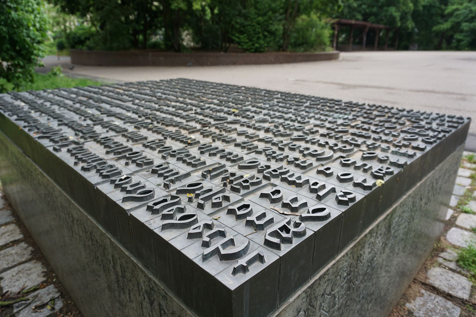 """Anton Koberger / Memorial Stone Text section from """"single letters"""