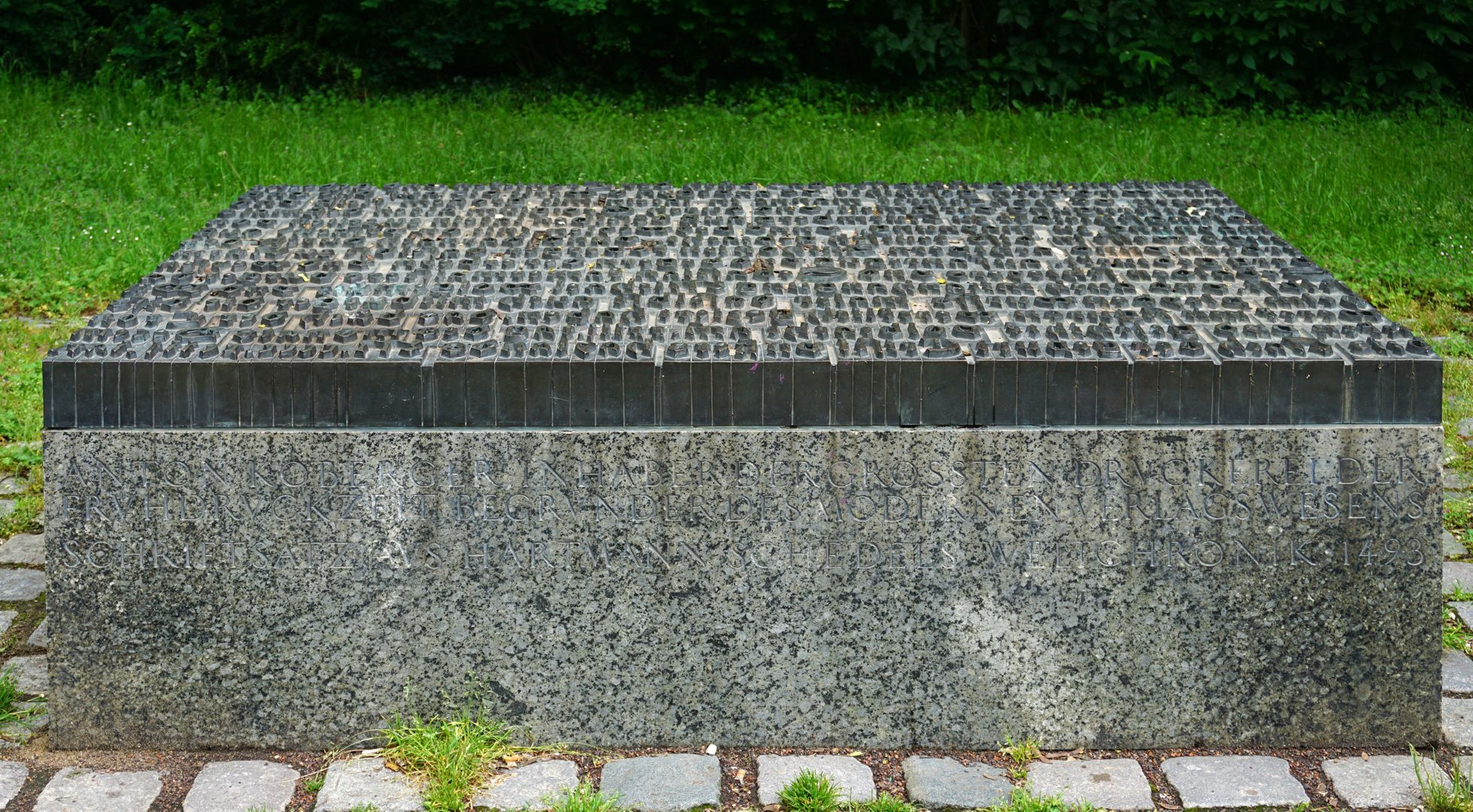 Anton Koberger / Memorial Stone Front side