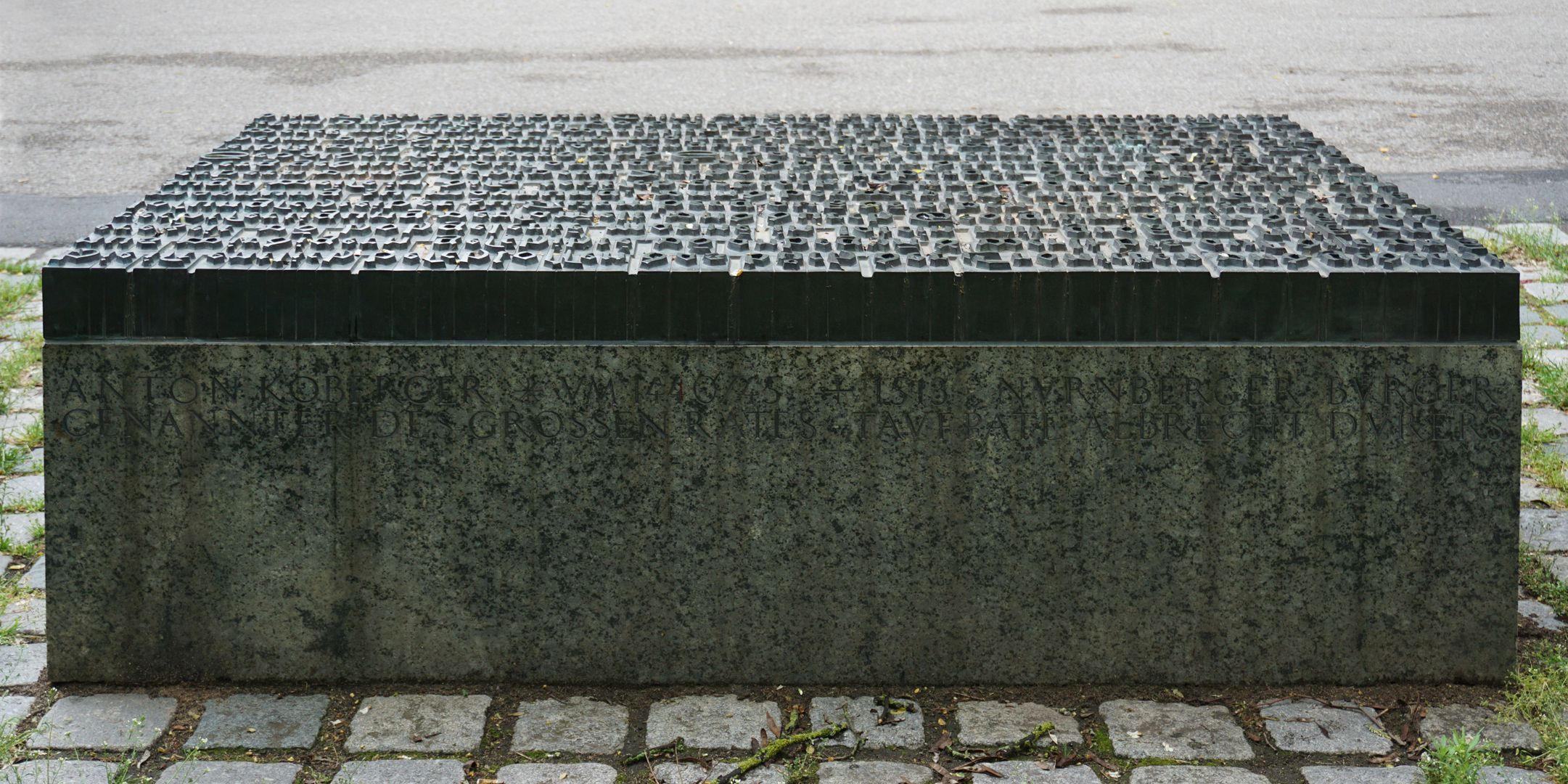 Anton Koberger / Memorial Stone Rear side