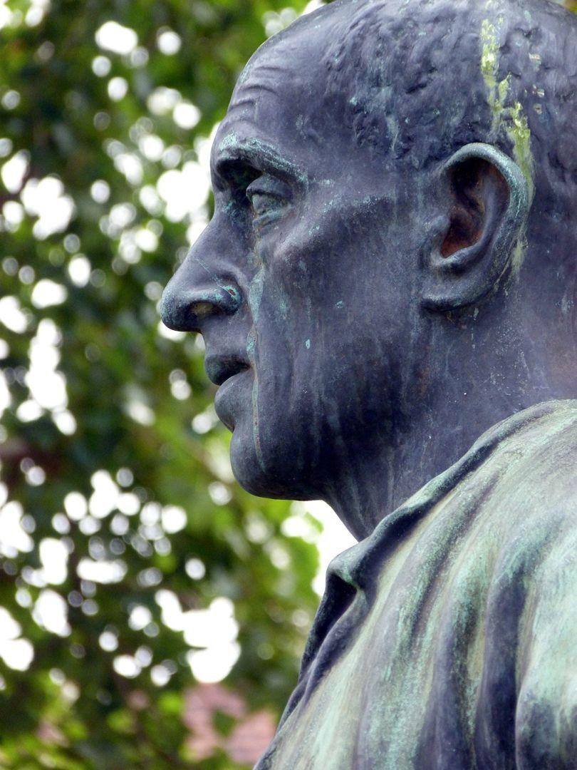Statue of a miner Head, profile