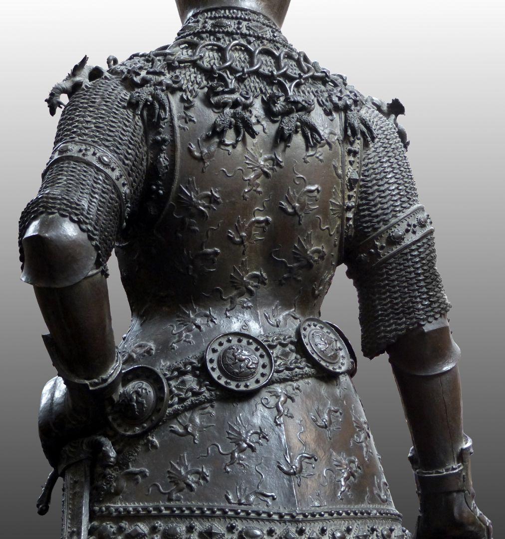 King Arthur (Innsbruck) Back view, detail