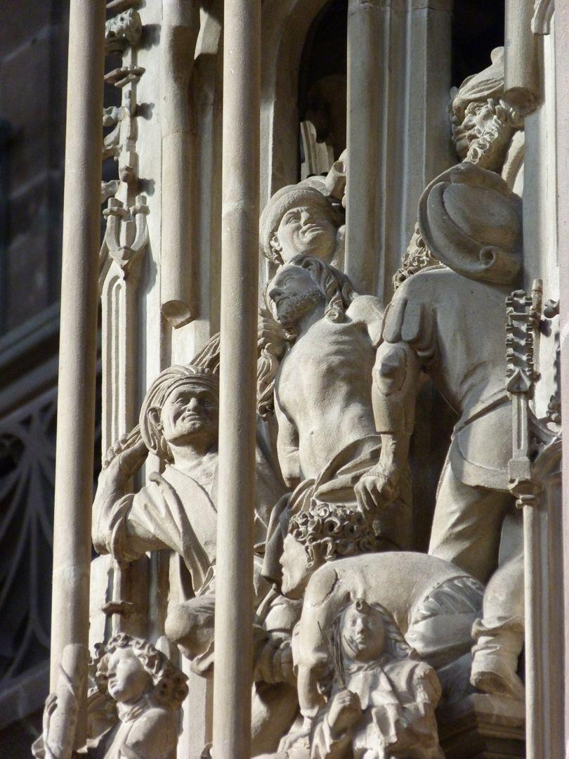 Tabernacle Pinnacle decoration: Flagellation, detail