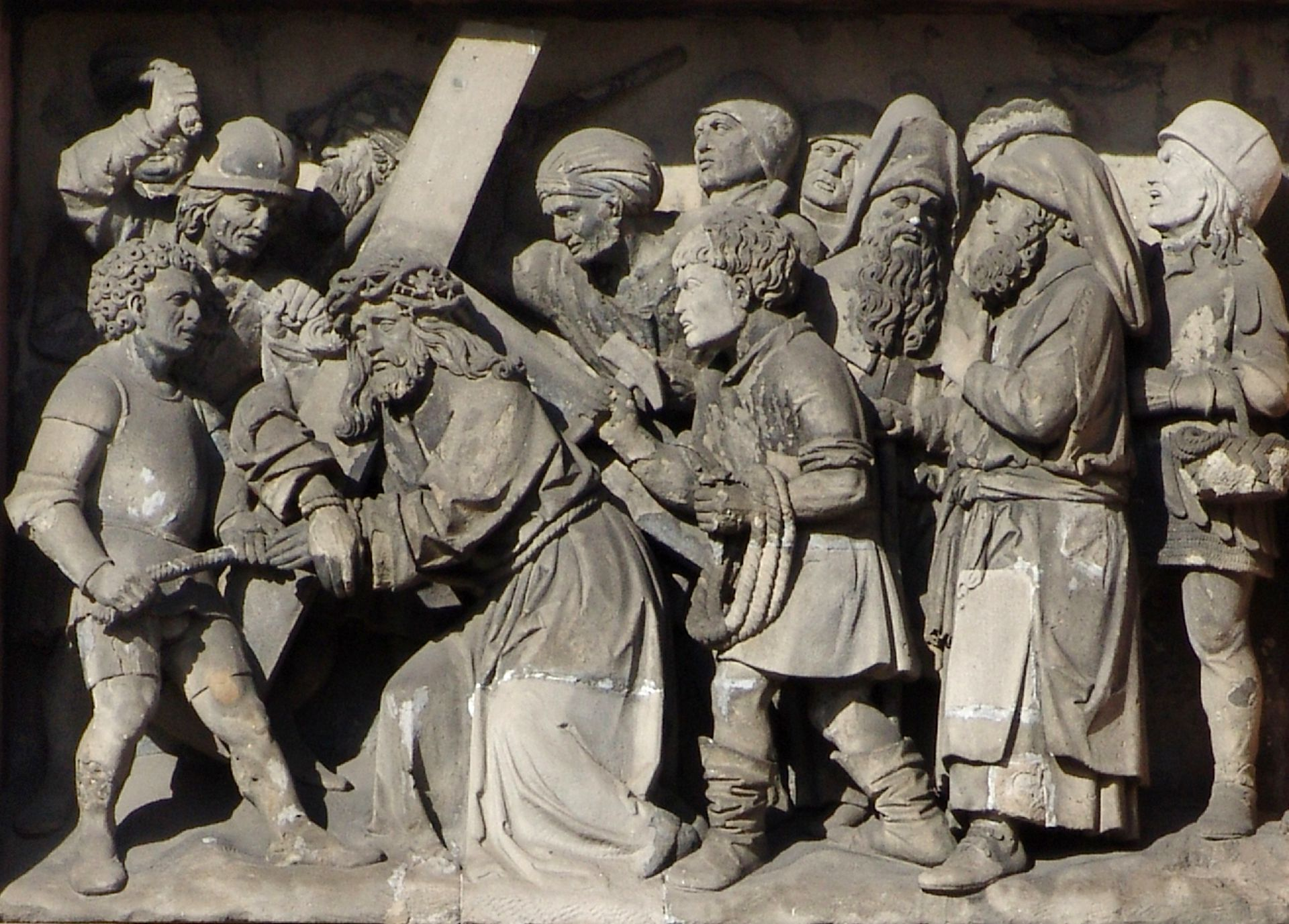 5th Station of the Cross Detail