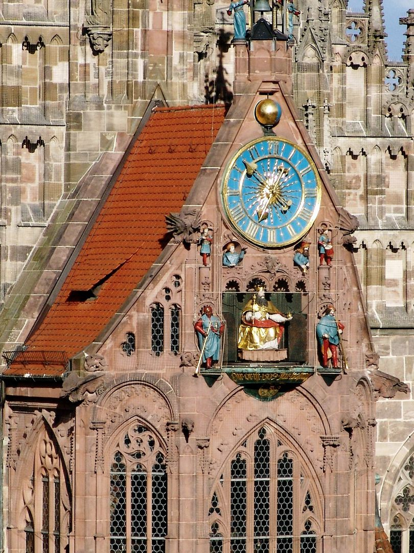 Gable of St.Michael´s choir Gable of St.Michael´s choir with Männleinlaufen ( a mechanical clock that commemorates the Golden Bull of 1356) from the north west
