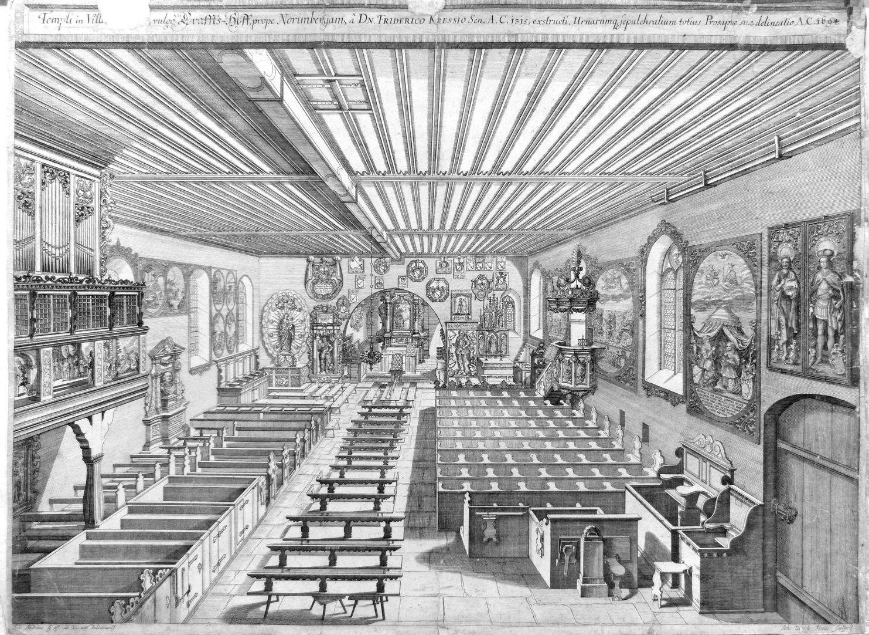 """""""Urbis Norimbergensis Insigniorum Templorum…"""" St. George´s Church in Kraftshof (Georgskirche)"""