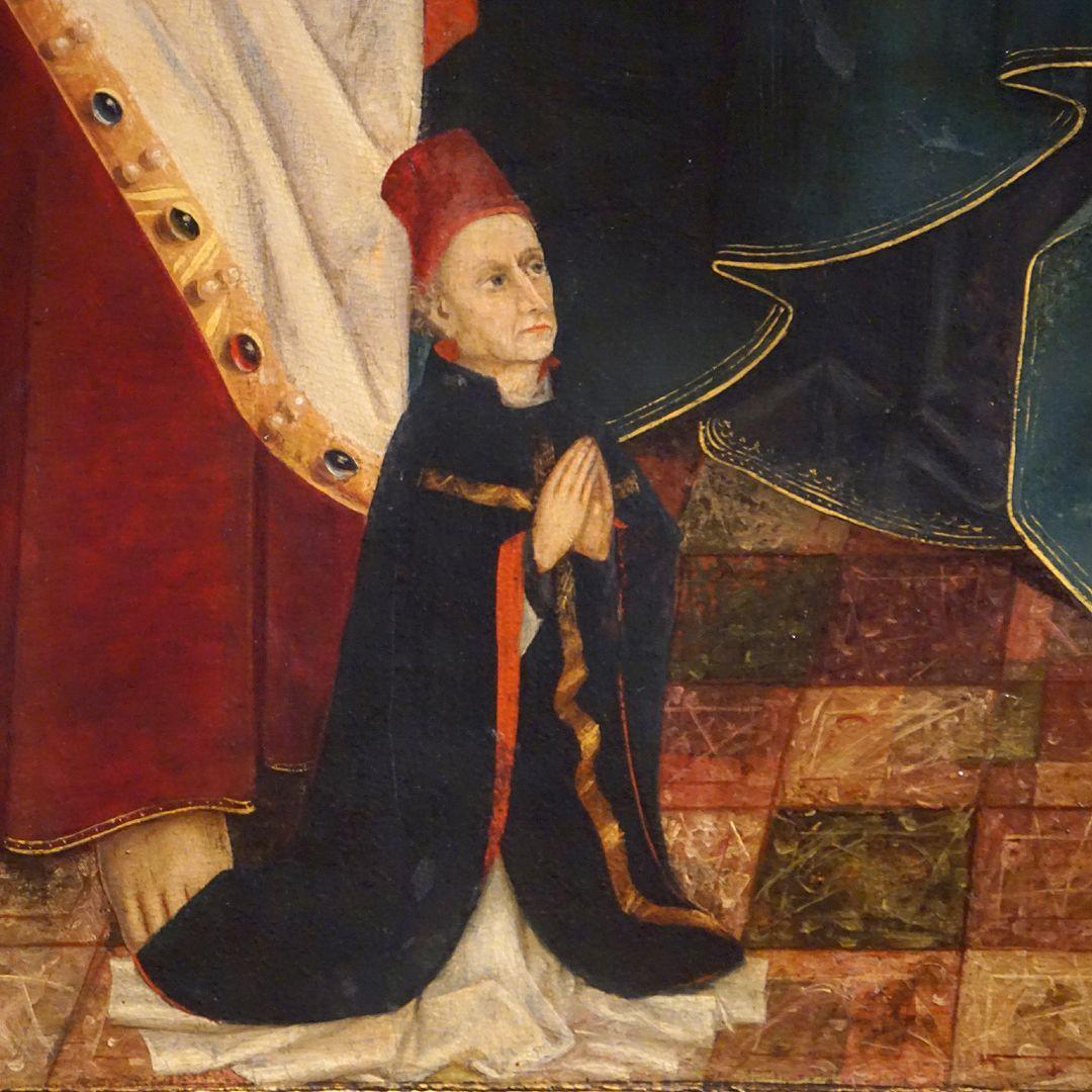 Krell-Altar Mitteltafel, Detail mit Stifter Jodocus Krell