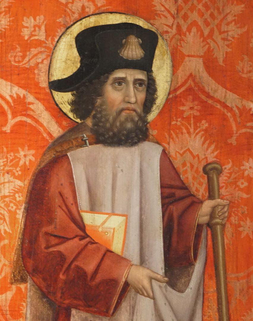 Krell-Altar linke innere Seitentafel mit St. Jodocus, Detail