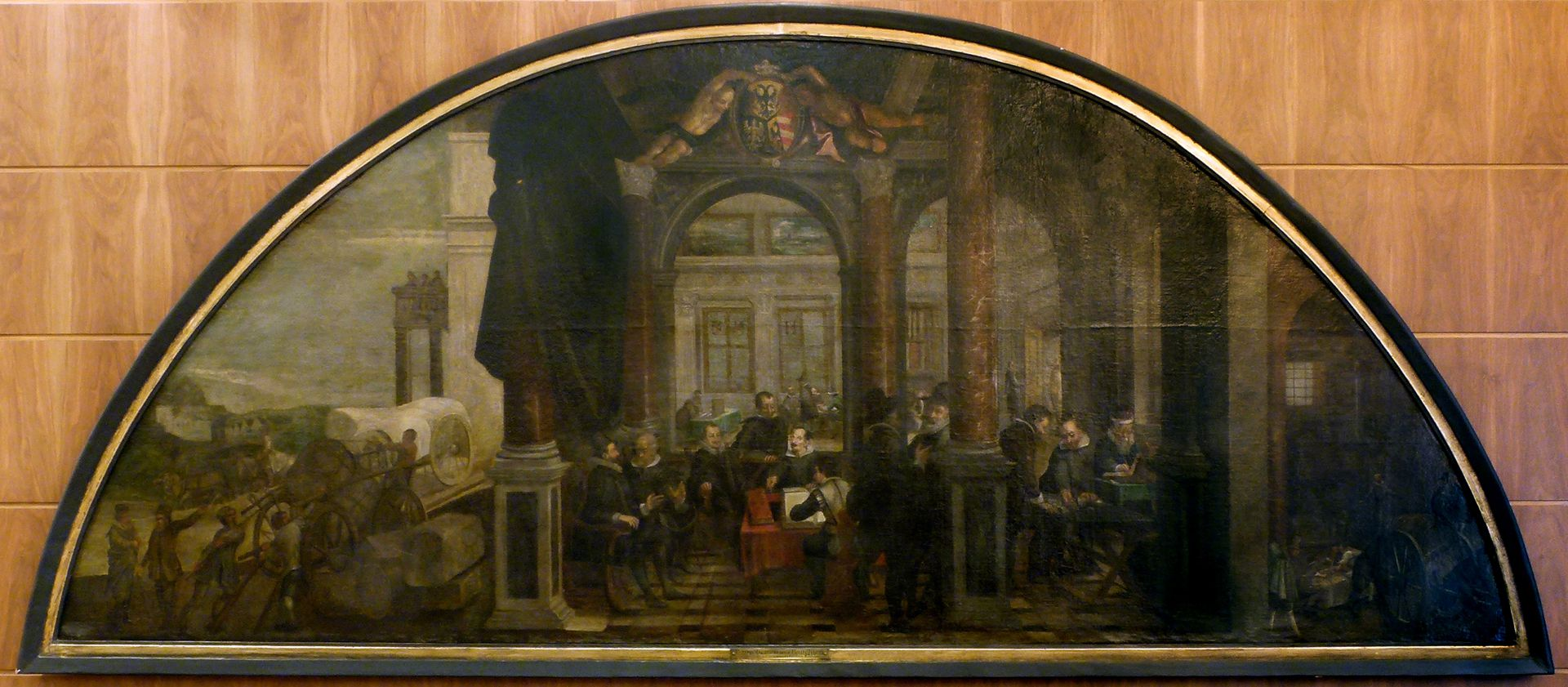 Bancoherren und Banchieri (gentlemen-bankers and banchieri) Lunette Picture