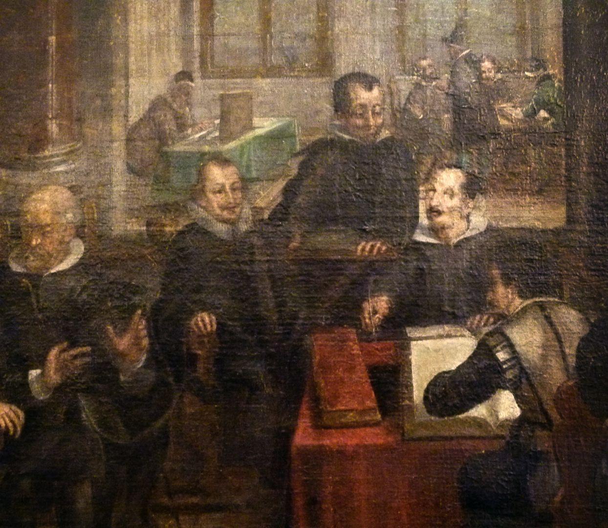 Bancoherren und Banchieri (gentlemen-bankers and banchieri) Detail: Working on the accounts