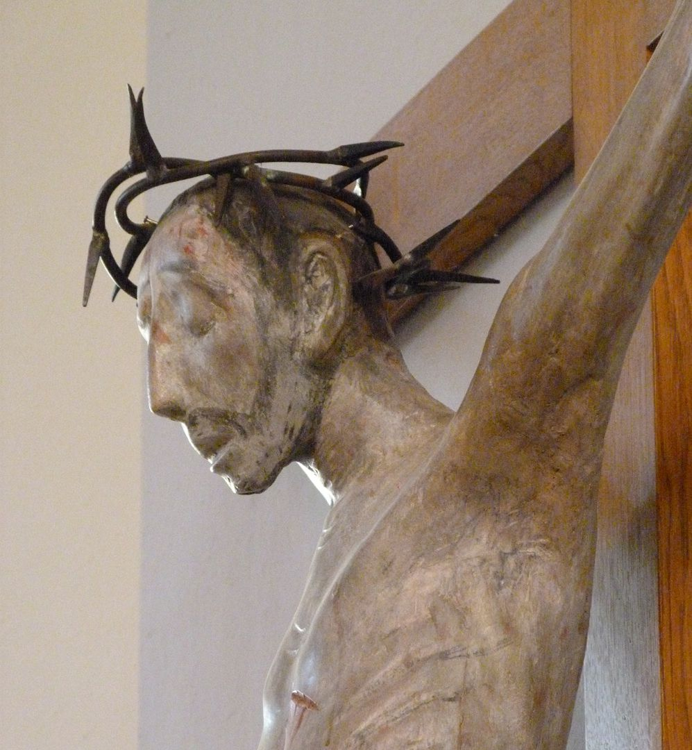 Christ on the Cross Head with crown of thorns