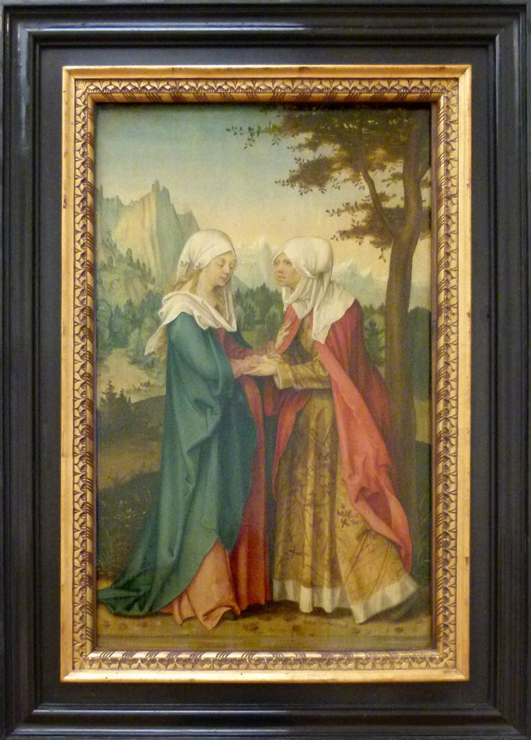 Four panels from a Life-of-the-Virgin-Altar Visitation