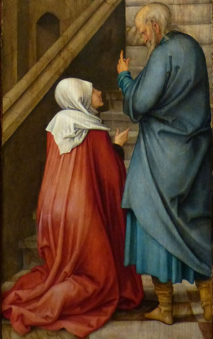 Rosary Triptych (Madrid) Anna together with old Joachim (parents of the Blessed Virgin Mary)