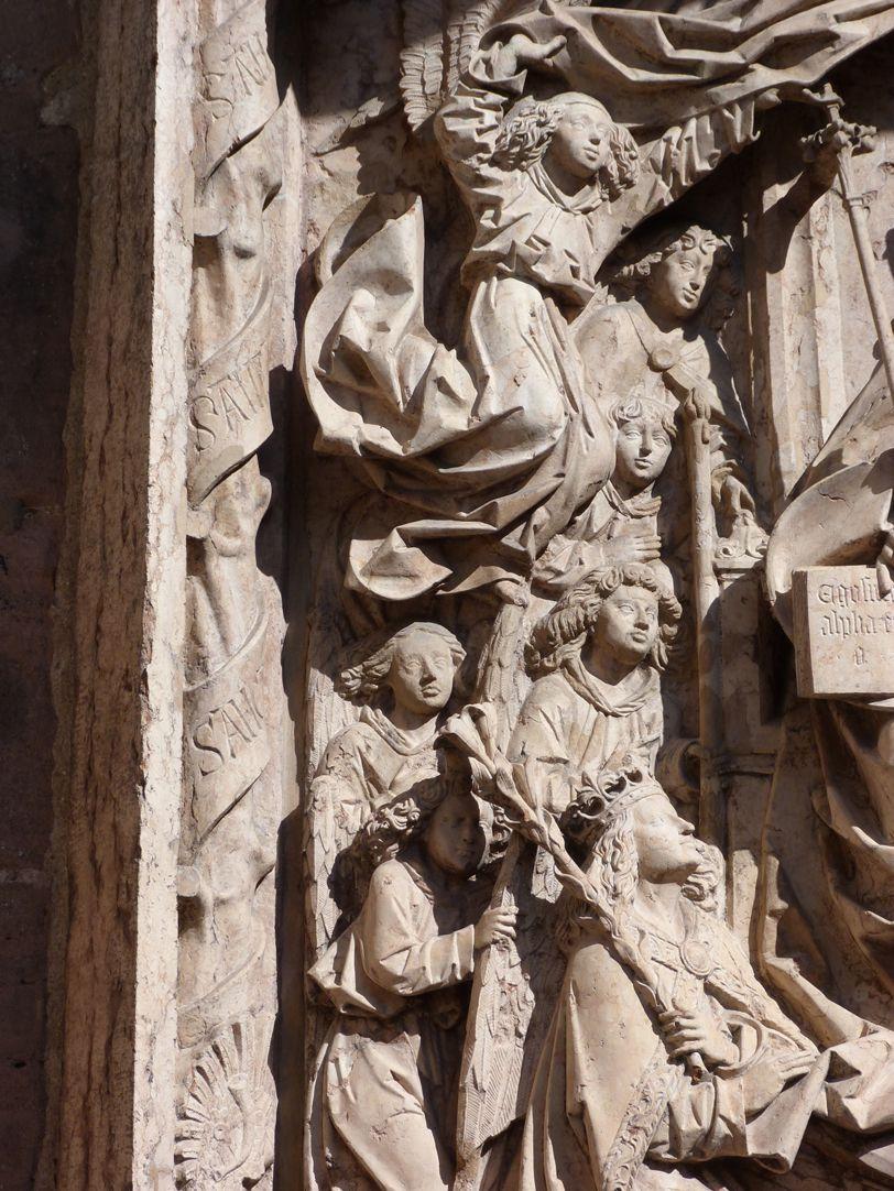 Epitaph of Kunz Horn Left group of angels