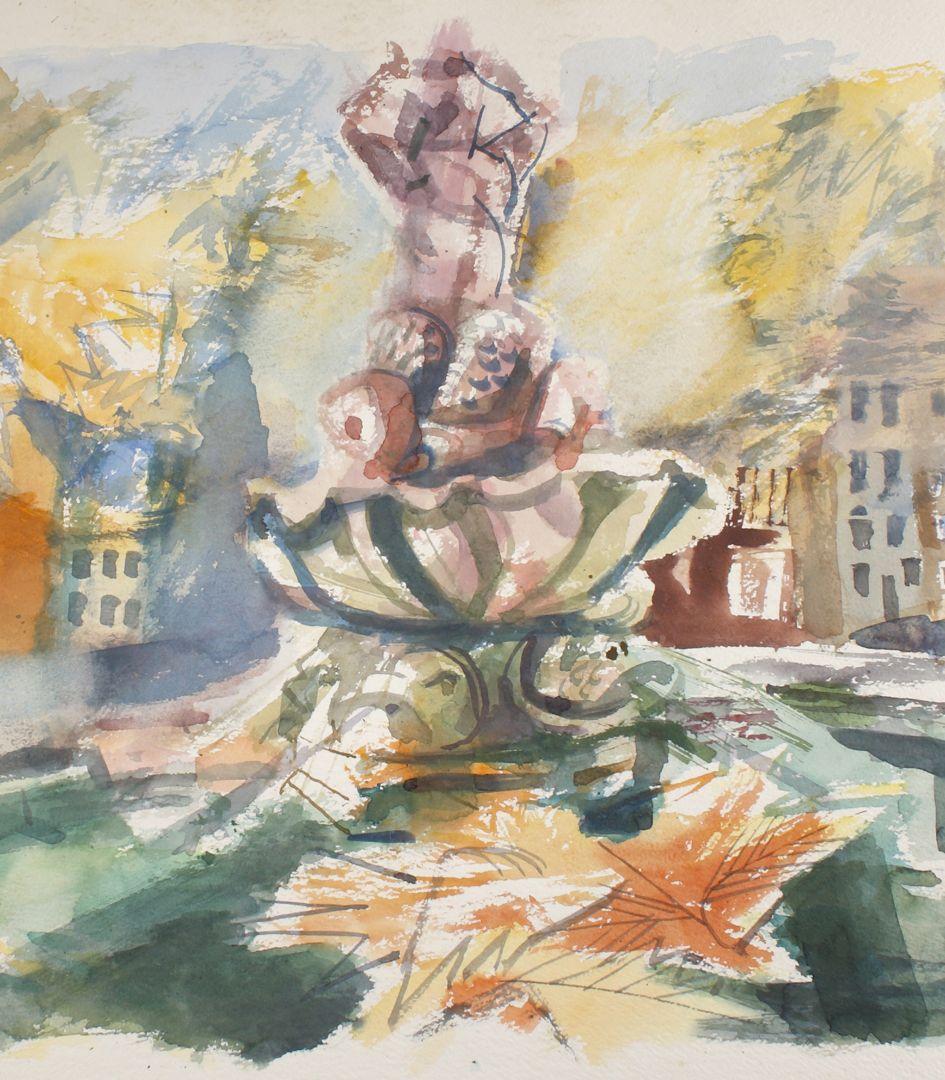 Triton Fountain Detail