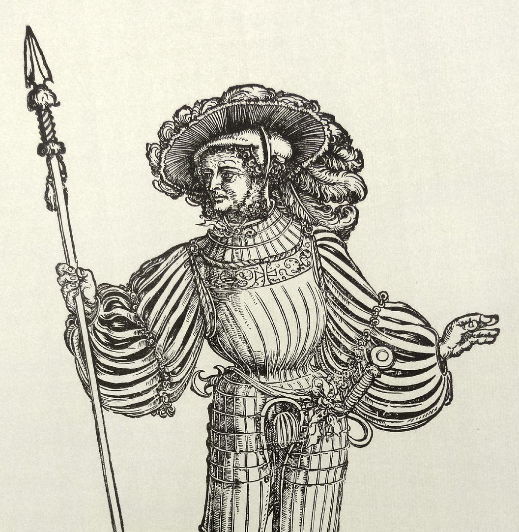 A lansquenet leader Upper half of the sheet