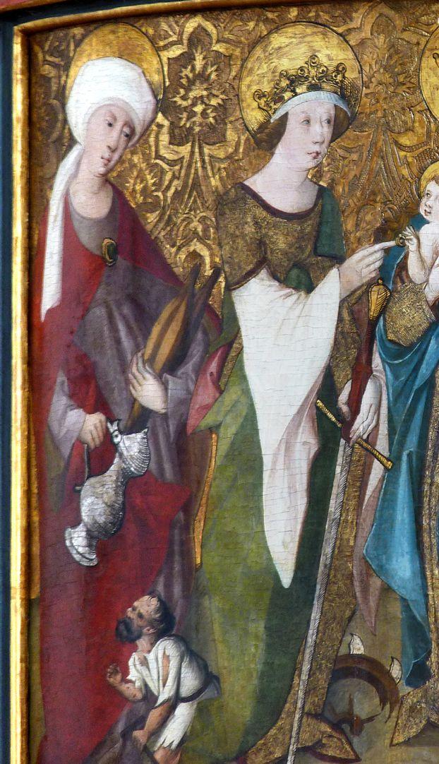 Lehenmaier Epitaph Heiligen Elisabeth und Katharina