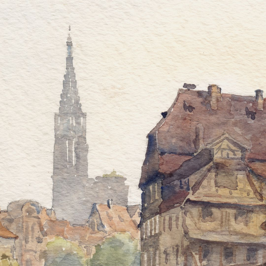 Strasbourg Detail with Minster Tower