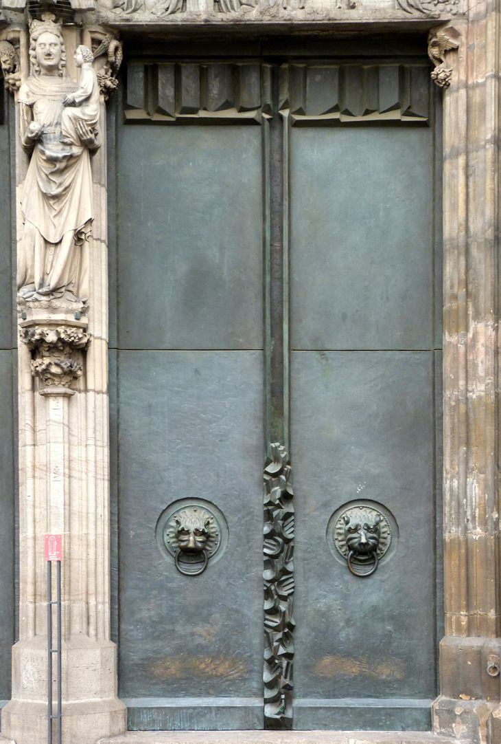St. Lorenz-Church, West Entrance Portal, Bronze doors South door