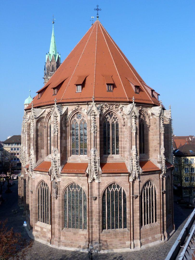 Die Lorenzkirche als Architektur Chorblick von Osten, Baumeister Konrad Heinzelmann, Konrad und Matthäus Roritzer