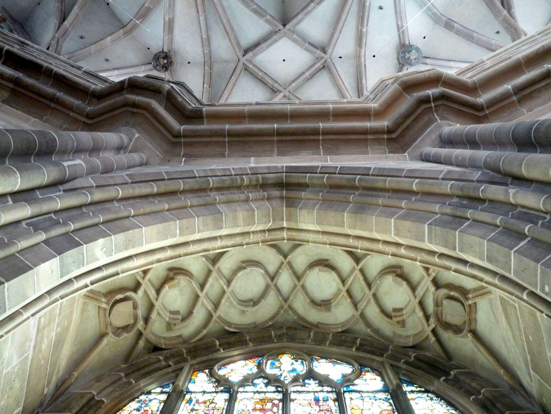 Die Lorenzkirche als Architektur Chorumgangskapelle. Die Wölbung ist hier rein dekorativ, im Unterschied zu dem Rest nicht steifend bzw. nicht tragend.