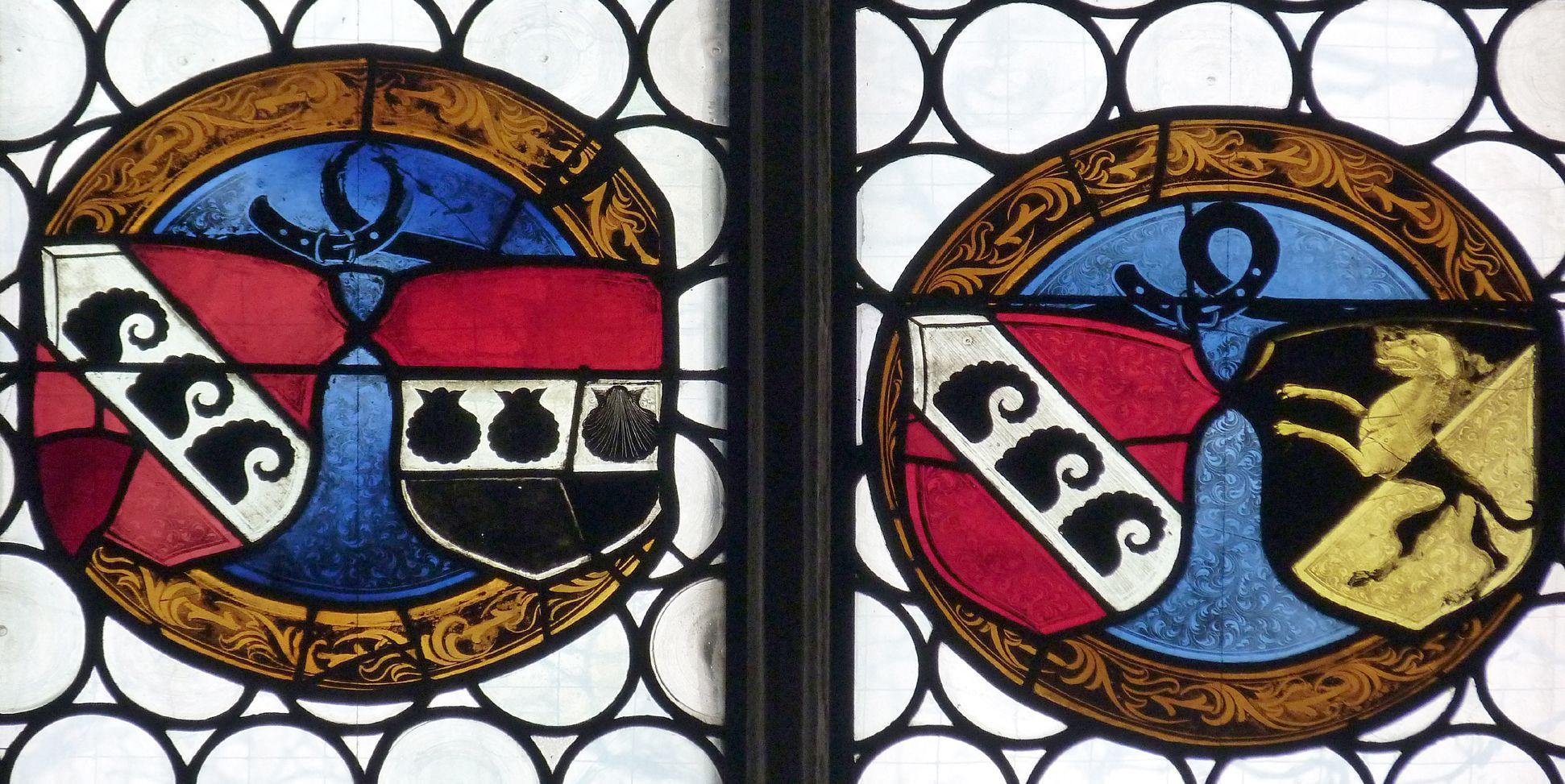 Ehem. Schnöd-Fenster Allianzwappen der Familie Schnöd, frühes 16. Jh.