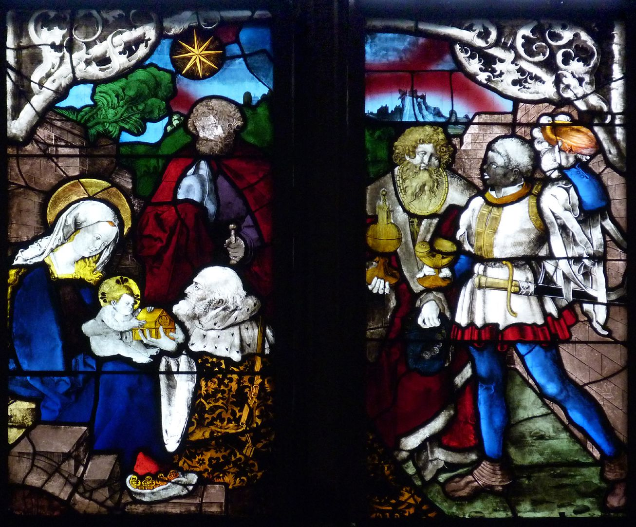 Loeffelholz-Fenster Anbetung der Könige
