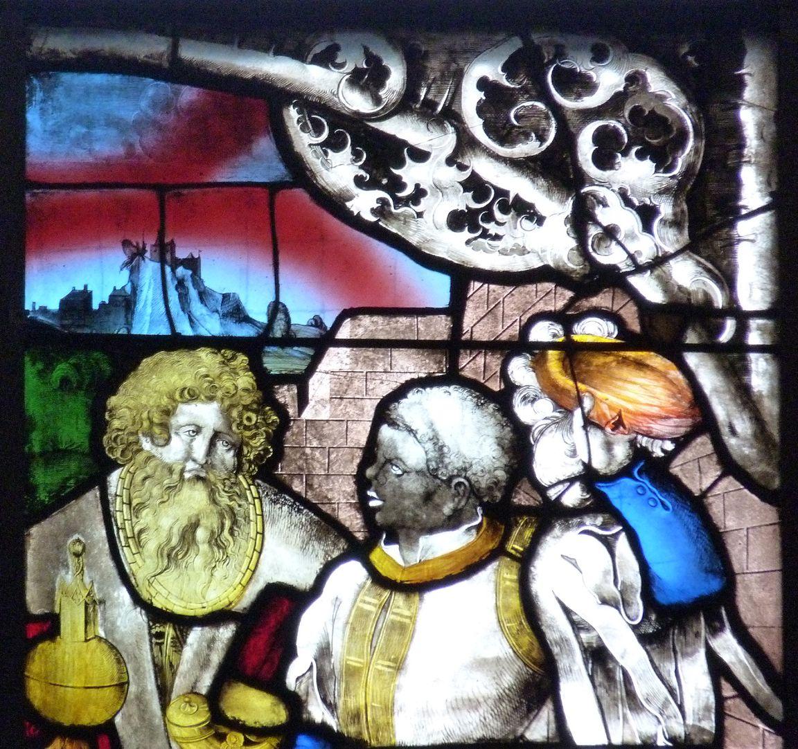 Loeffelholz-Fenster Anbetung der Könige: Detail