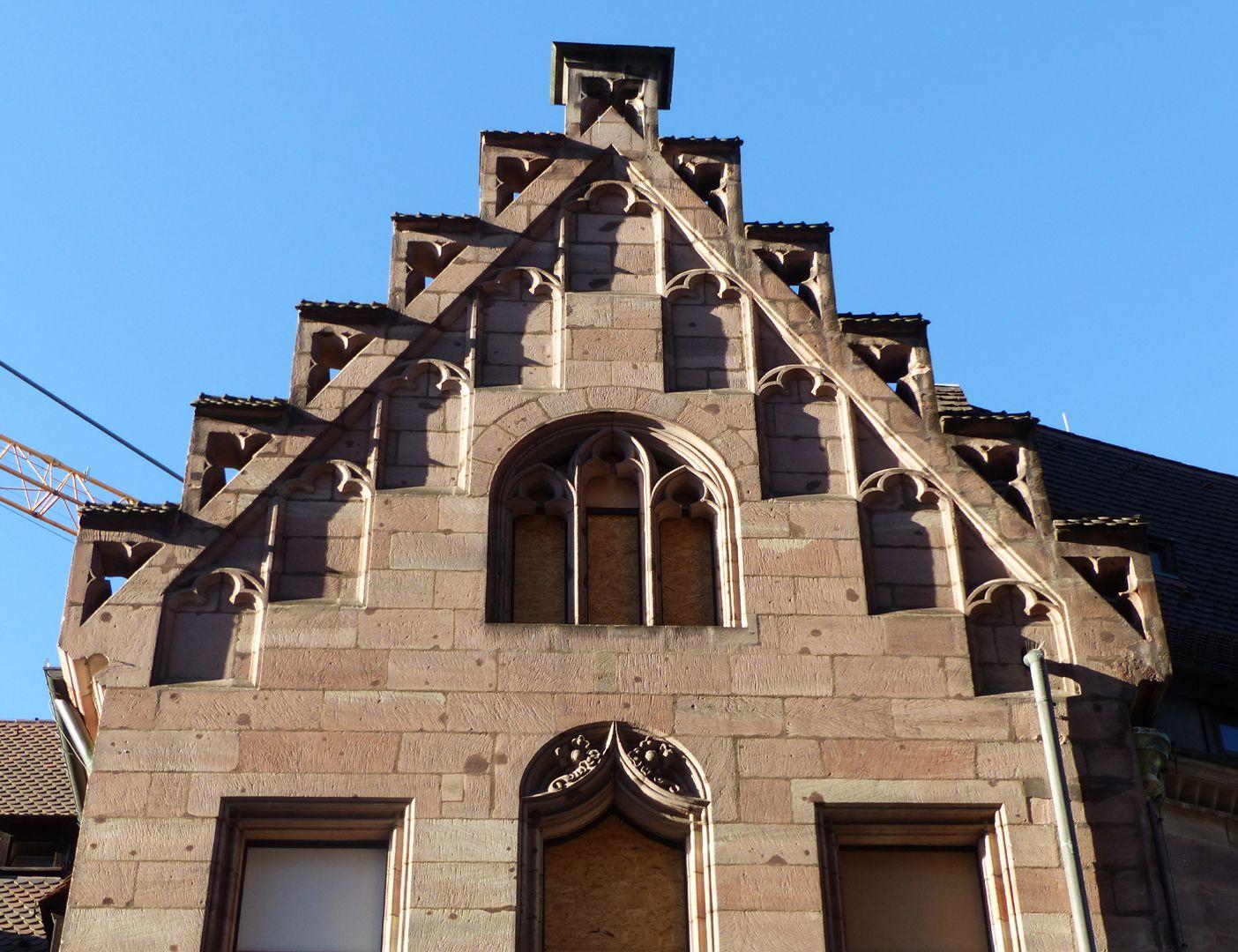 St. Lorenz-Church-Vicarage Treppengiebel mit Blenden