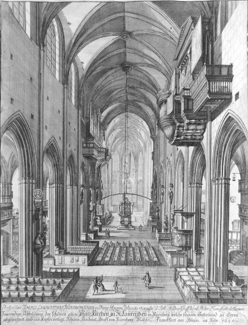 """Urbis Norimbergensis Insigniorum Templorum…"" St. Lorenz-Church"
