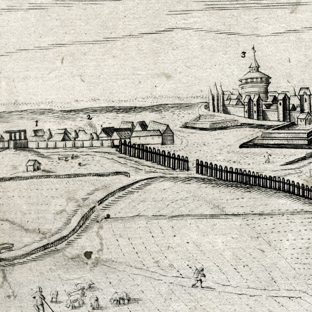 When Germany was at peace, before the attack of the Huns City panorama with Galgenhof and Spittler Gate