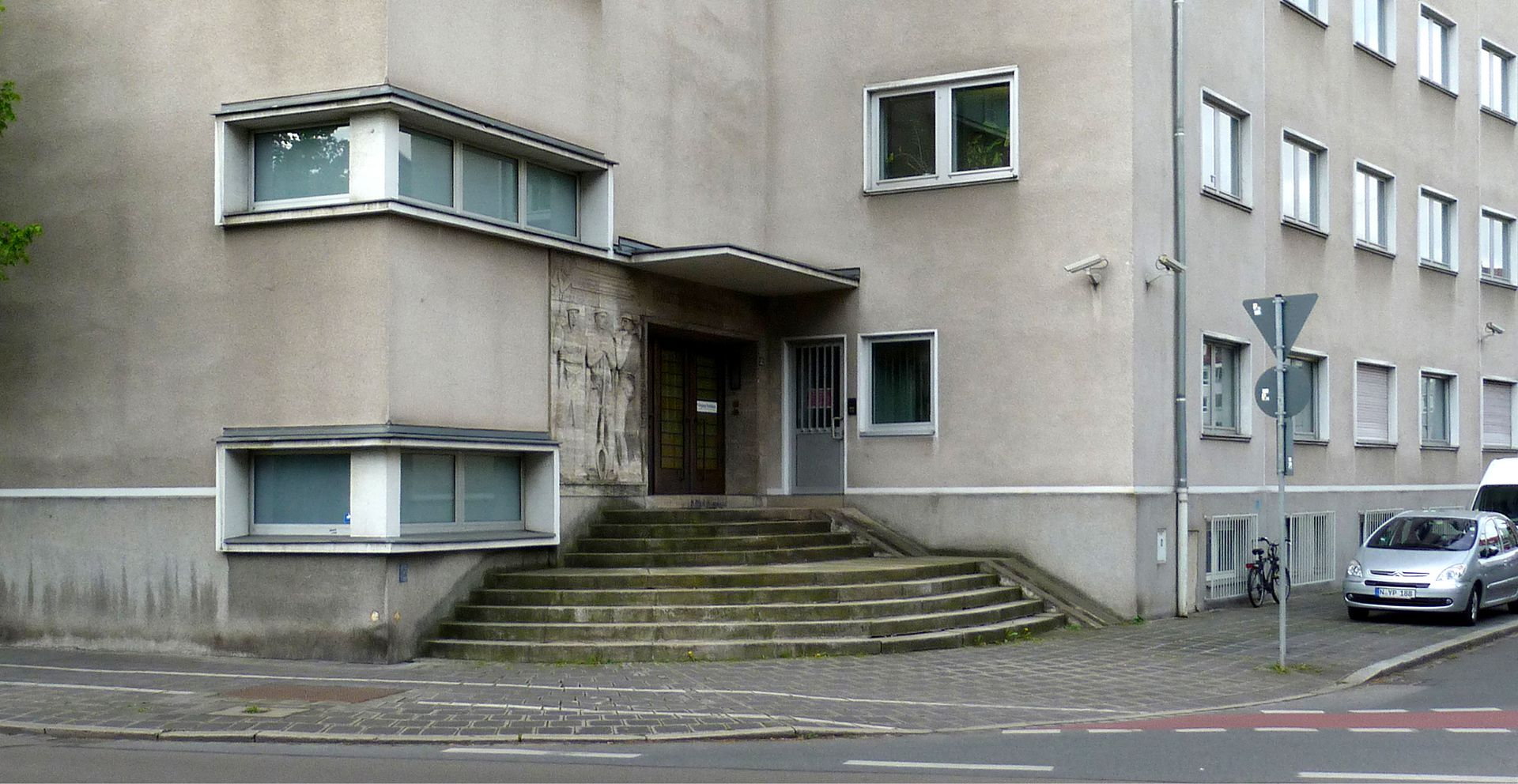 Administration building of the Franconian electricity supplier Entrance with staircase
