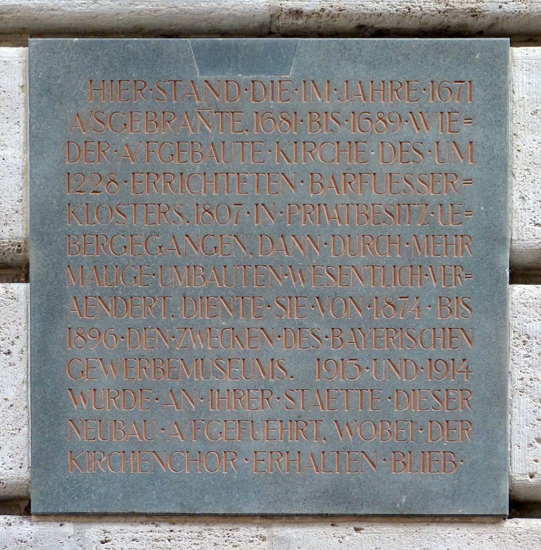 Bavarian Discount and Exchange Bank Memorial plaque