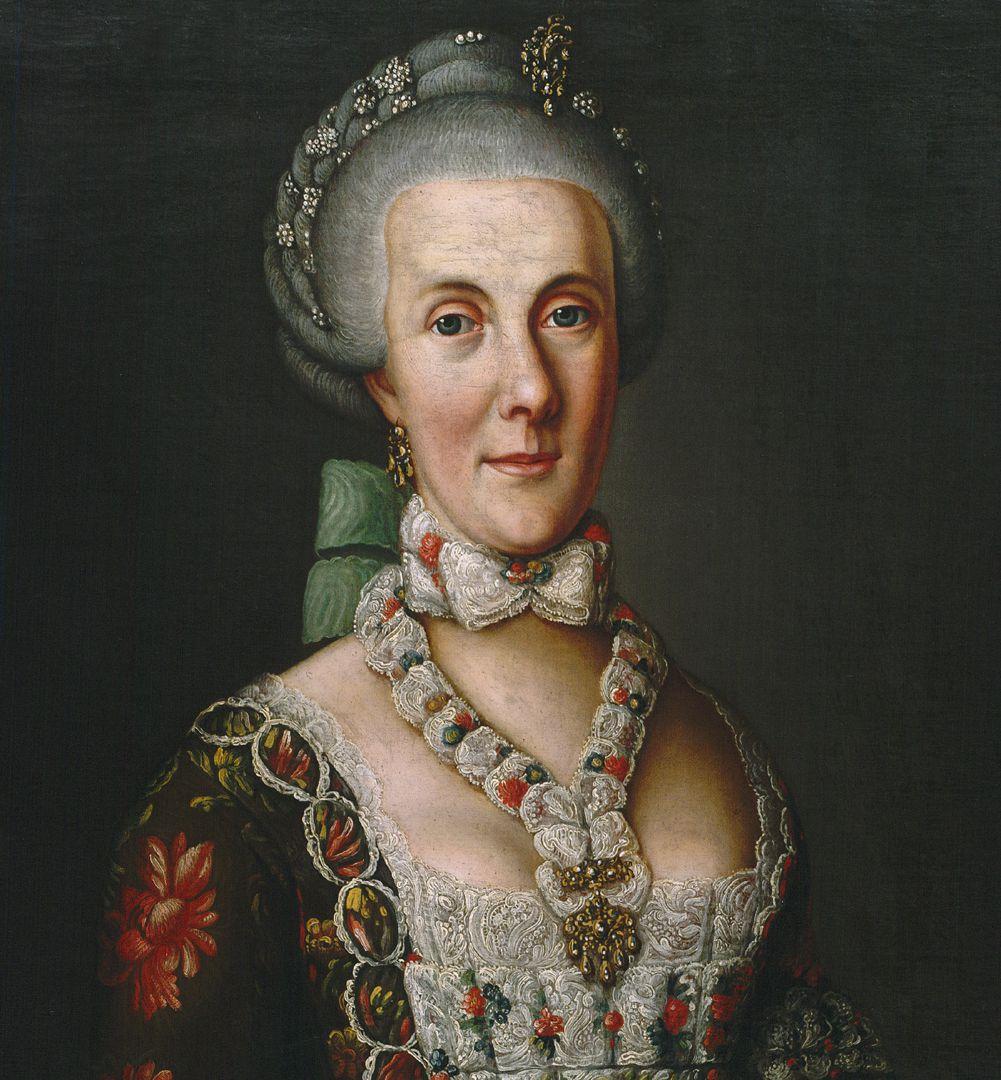 Portrait of Magdalena Barbara von Hailbronner Detail