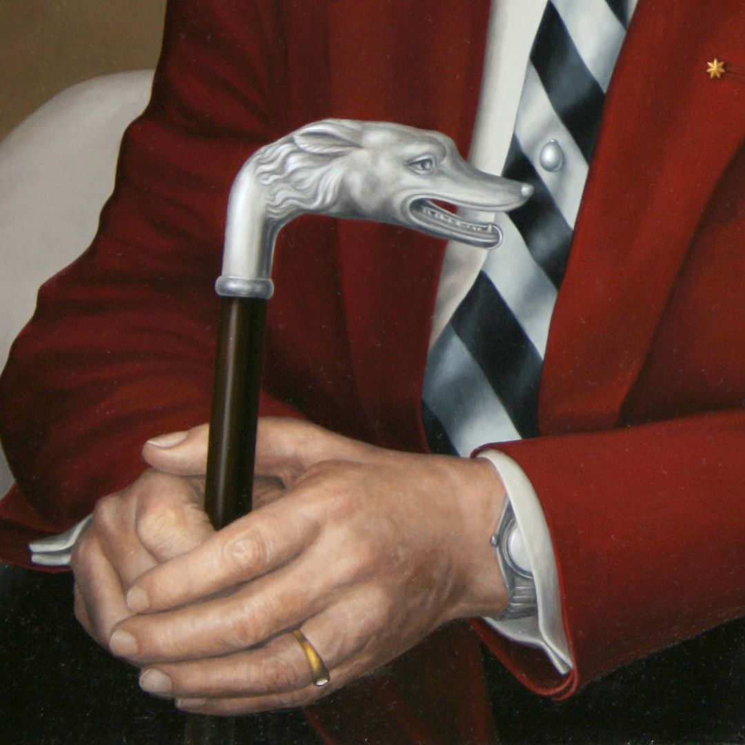 Manfred Grieb Detail, hands with walking stick